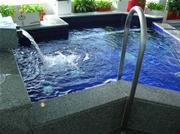 水風呂は水流が常に流れている